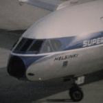 Finnair Se210 Caravelle in Small World film