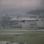 JAL DC-8-61 at Kai Tak in Small World film