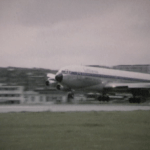 Lufthansa 707 at Kai Tak in Small World Early 1970s airline film