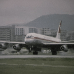 Swissair DC-8-62 at Kai Tak in Small World Early 1970s airline film