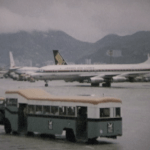 JAL DC-8-30 at Kai Tak in Small World Early 1970s airline film