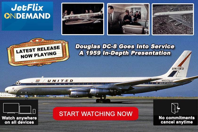 Douglas DC-8 Goes Into Service 1959 Feature film at JetFlix