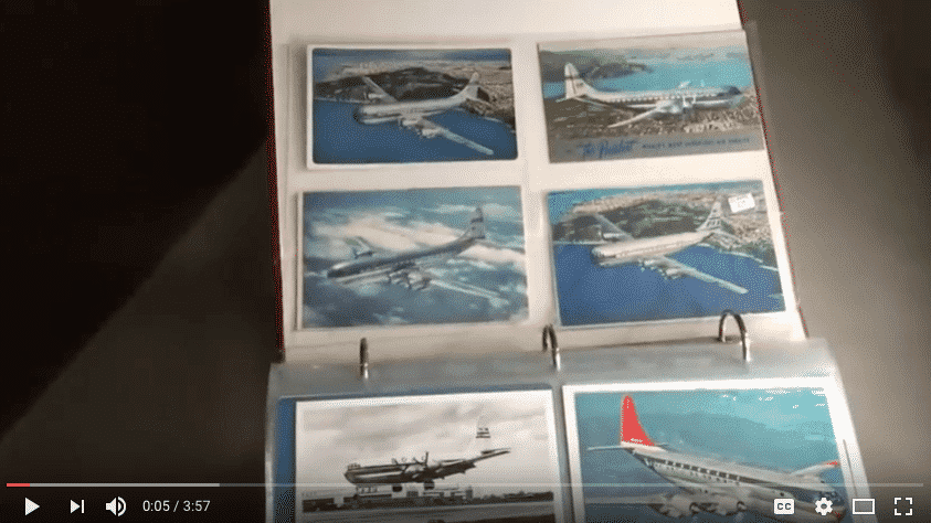 airline postcard collection for sale