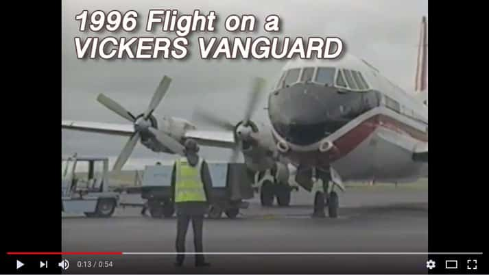 Flight on a Vickers Vanguard circa 1996