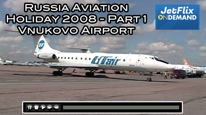 Vnukovo Airport with UT Air Tupolev Tu-154 Tu-134 Polish Tu-154 - On JetFlix.TV
