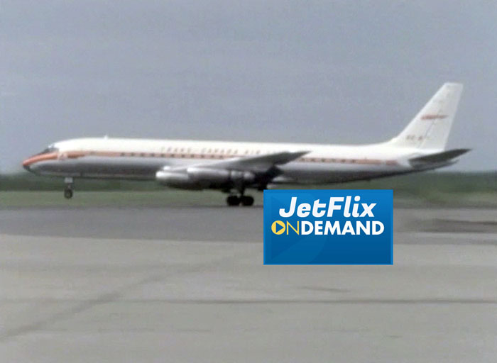 "V1 Rotate! A Trans-Canada Air Lines Douglas DC-8-40 gets airborne at Montreal Dorval Airport circa 1962, preview from the film ""Airlines in Canada 1960s"" which streams at JetFlix TV"