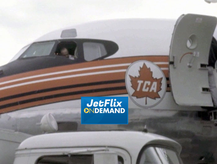 "Front office view with Captain of a Trans-Canada Air Lines Douglas DC-8-40 at Montreal Dorval Airport circa 1962, preview from the film ""Airlines in Canada 1960s"" which streams at JetFlix TV"