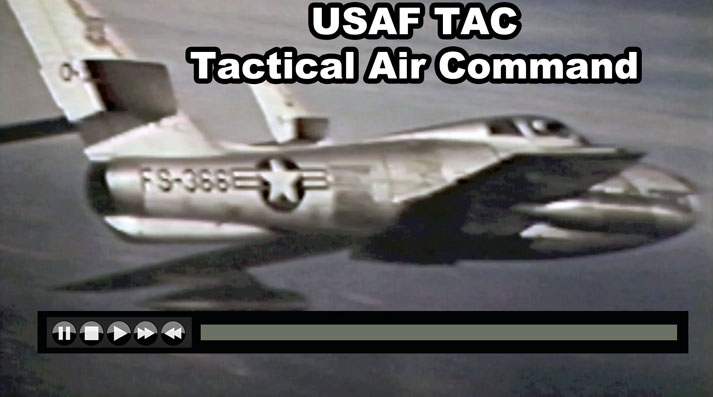 USAF Tactical Air Command 1964 with F-84F F-100D F-105 F-4C RF-101 RB-66 - Now on JetFlix TV