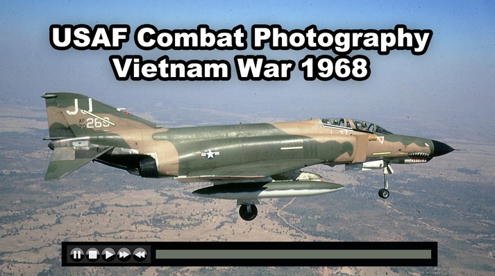 US Air Force Combat Photography COMDOC Vietnam 1968 F-4 F-100 F-105 AC-47 B-52