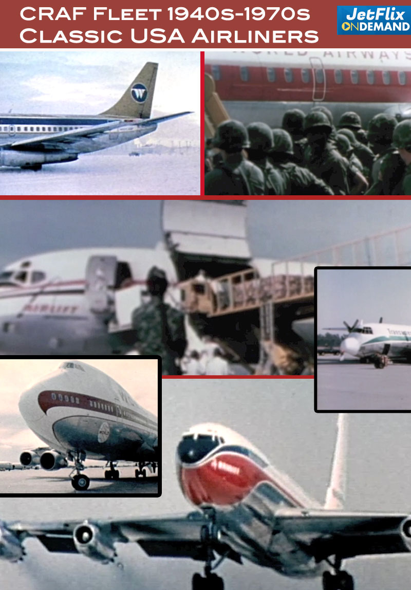 CRAF Civil Reserve Air Fleet - US Airlines Serving the US Military 1960s 1970s