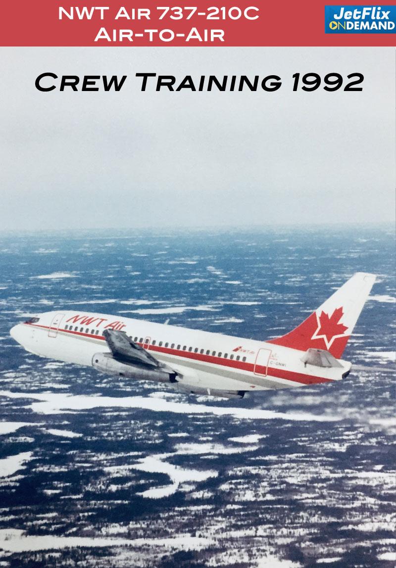 NWT Air 737-210C 1992 air-to-air photo shoot video