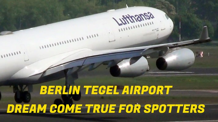 Berlin Tegel Airport is for spotters