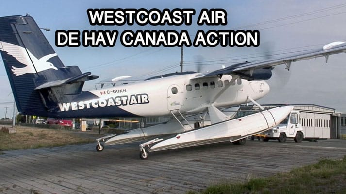 Westcoast Air De Havilland Canada Action YVR 2012 - Now on JetFlix TV
