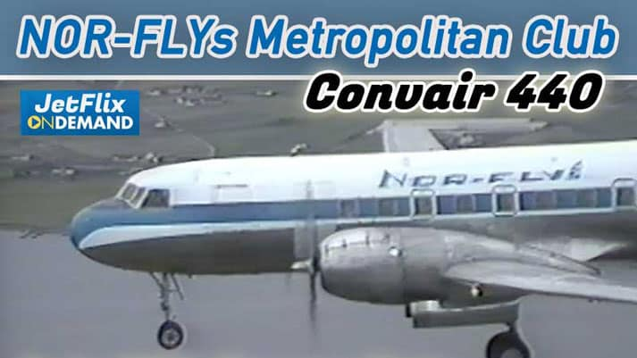 Nor-Fly Convair 440 Metropolitan Club mid 80s Pleasure Flight - video Now on JetFlix TV