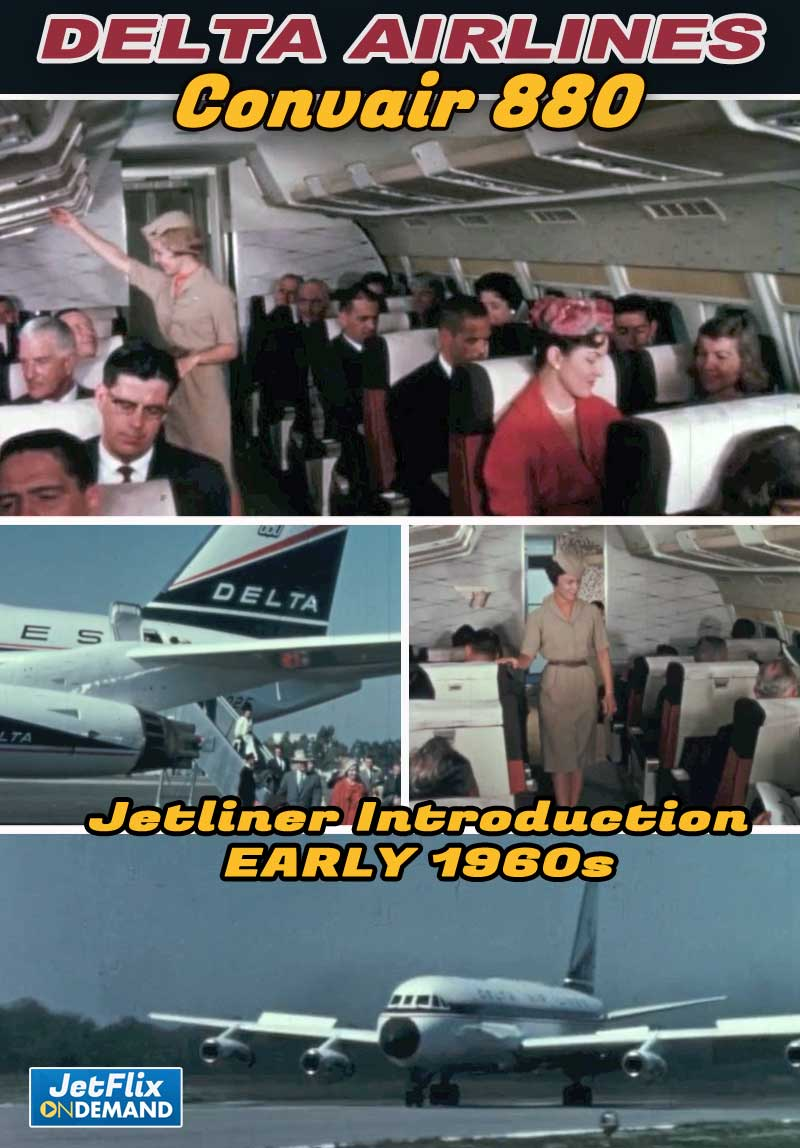 Delta Air Lines Convair 880 Jetliner Introduction to Service