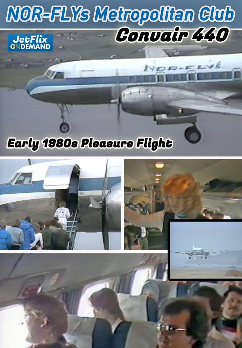Nor-Fly Convair 440 Metropolitan Club Mid 1980s Pleasure Flight