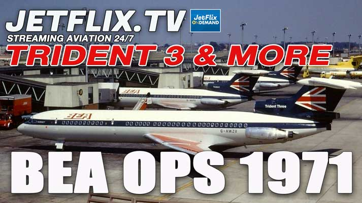 British European Airways Operations 1971 in Glorious Colour - Now on JetFlix TV