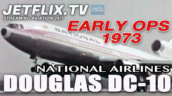 National Airlines Douglas DC-10 Widebody Jetliner 1973 Publicity Film - Now on JetFlix TV