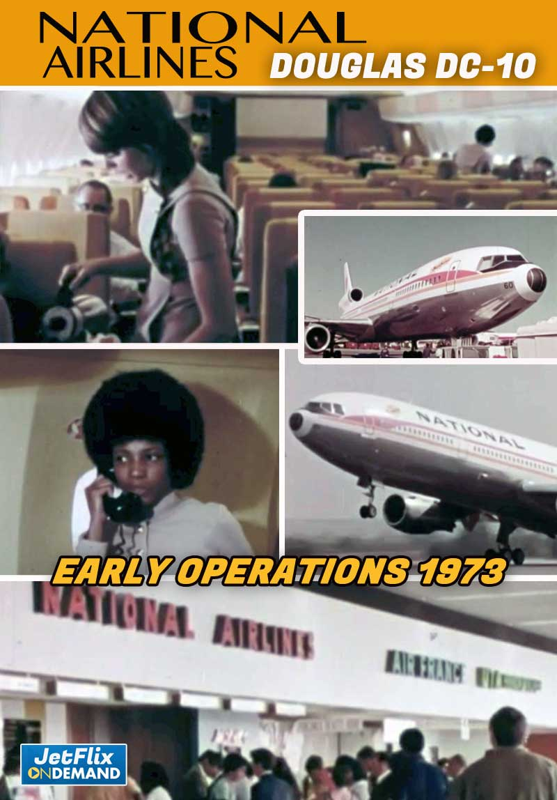 National Airlines Douglas DC-10 Widebody Jetliner 1973 Publicity Film