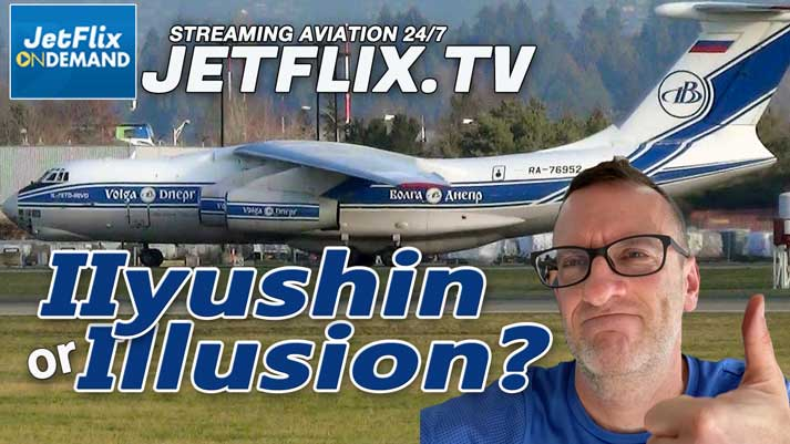 Volga-Dnepr IL-76D RA-76952 Visit to Vancouver February 8 2021 - Now on JetFlix TV