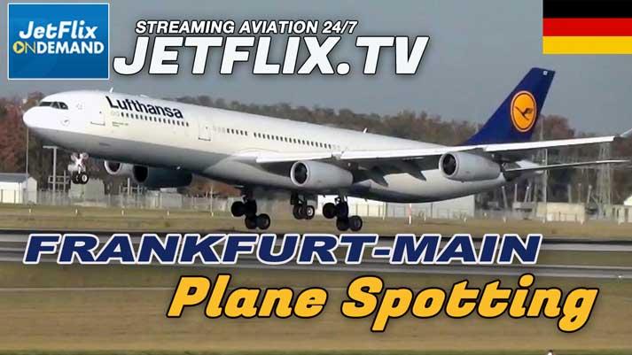 Frankfurt-Main Airport Spotting from the new Nordbahn location video now on jetflix.tv