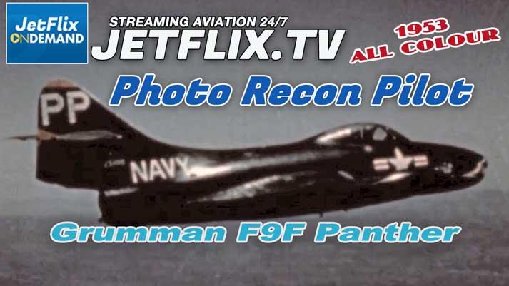 US Navy F9F Panther Photo Recon Pilot Korea War 1953 movie on JetFlix TV