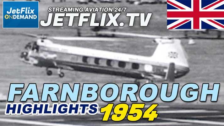 Farnborough Airshow Highlights 1954 - SB5 Victor Princess Hunter - Now streaming on JetFlix TV