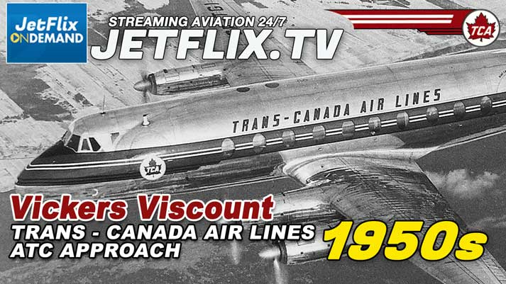 Trans-Canada Air Lines Vickers Viscount Ground Controlled Approach 1950s - Now streaming on JetFlix TV